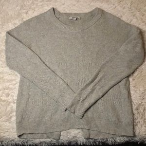 Madewell open crisscross back sweater knit crew